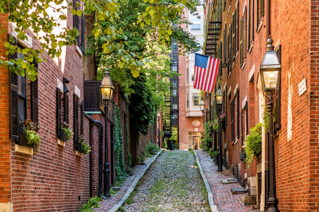 Most Beautiful Neighborhoods in America, Beacon Hill, Boston, Massachusetts, Cobblestone, historic, scenic
