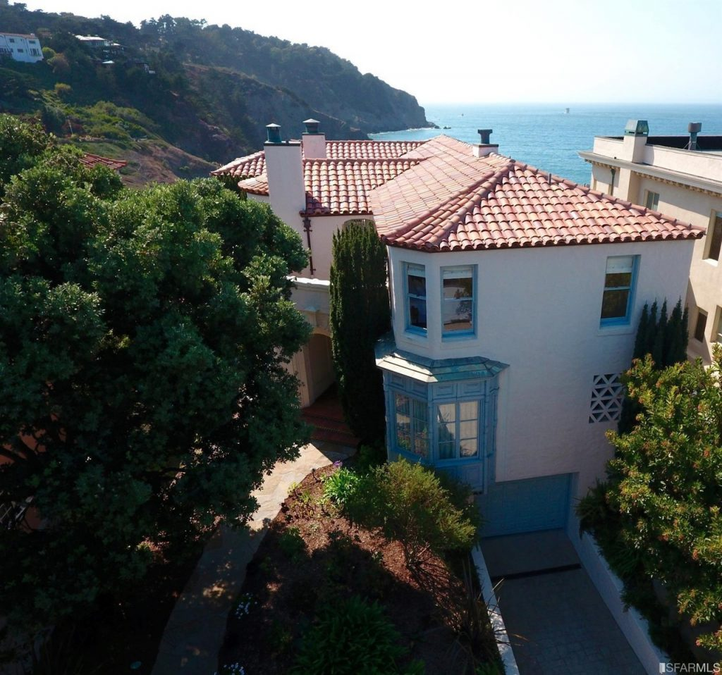 Most beautiful Neighborhoods in America, sea cliff, san francisco, california, beach house, villa, spanish style house