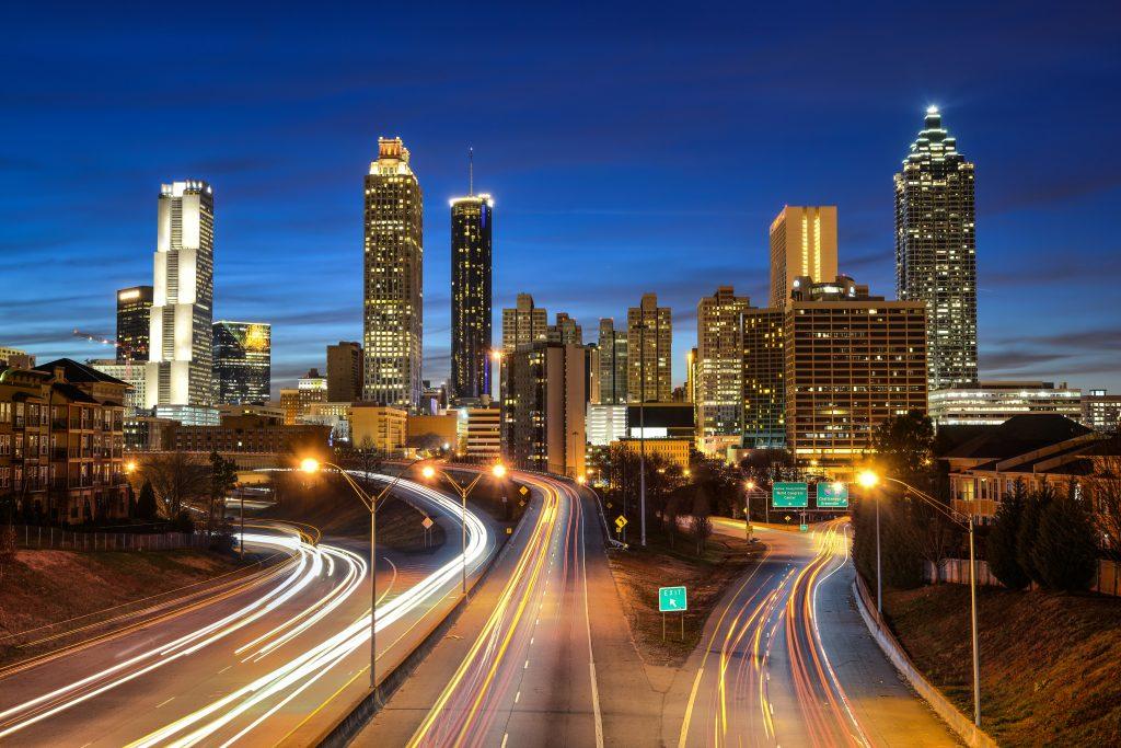 Dangerous neighborhoods in Atlanta, freeway, highway, skyline