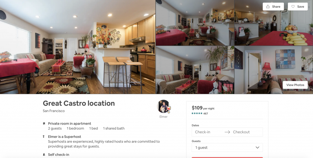 Top 10 Airbnbs in San Francisco, Great Castro Location