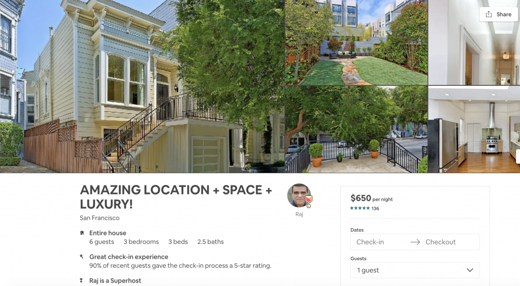 Top 10 Airbnbs in San Francisco, Amazing location, space, luxury, pacific heights, family friendly