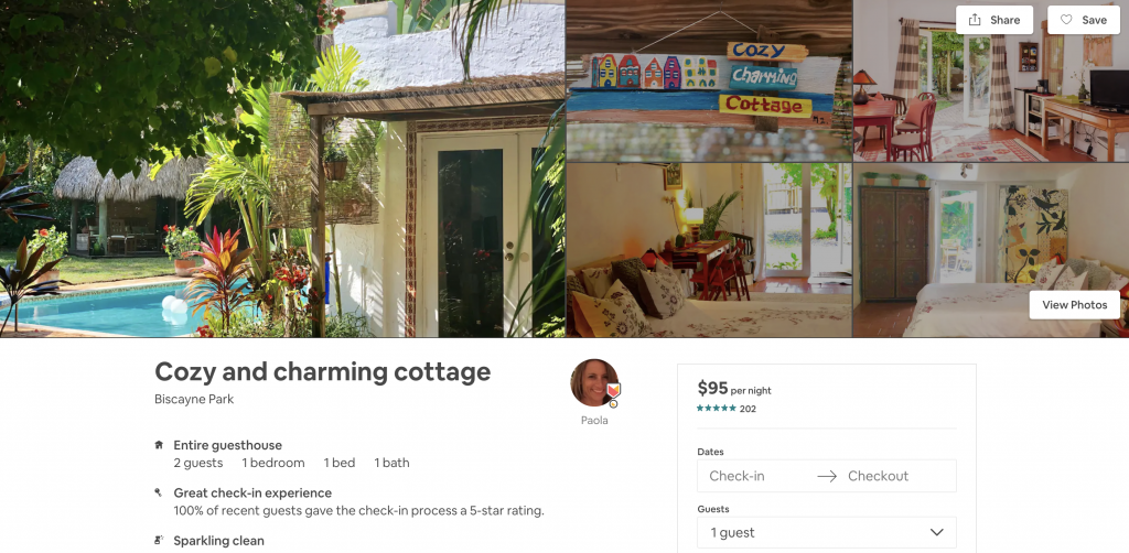 Airbnbs in Miami, cottage, pool, vacation