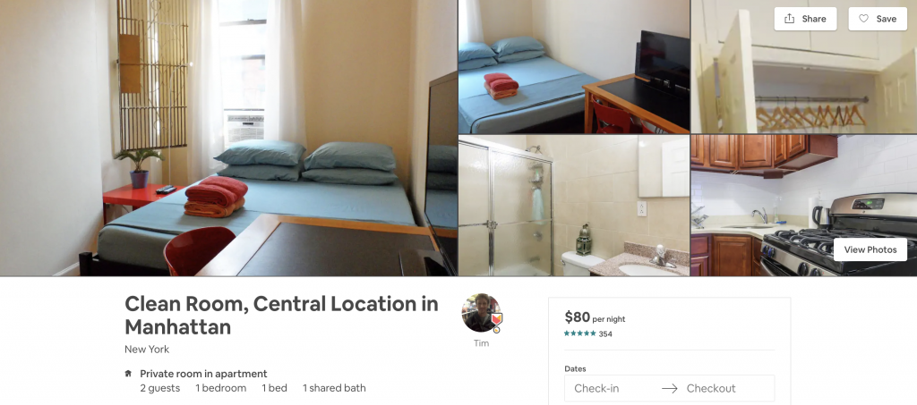 most in-demand airbnbs in New York, manhattan, clean room, one bedroom