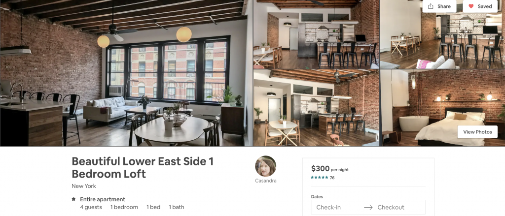 most in-demand airbnbs in New York, lower east side, loft, big windows, natural light